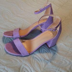 A new day lilac block heel pumps sandals NWOT